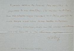 Rare lettre de l'académicien décapité en juillet 1794, Nicolaï.. Aimar-Charles-Marie Nicolaï (de) (1747-1794) Magistrat, premier président de la ...