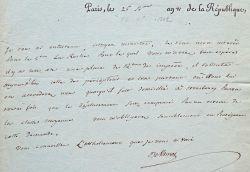 Rare lettre de l'académicien Jean Devaines.. Jean Devaines (0-1803) Publiciste et conseiller d'Etat, il tenait un salon littéraire réputé à la fin du ...