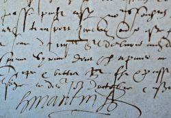 Reconnaissance de dettes du peintre de Gabrielle d'Estrées..