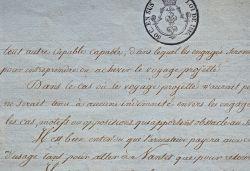 Acte d'engagement de l'équipage d'un navire breton en 1820..