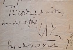 Quatre lettres de Charles Maurras à l'éditeur Jean Vignaud.. Charles Maurras (1868-1952) Ecrivain et journaliste monarchiste, directeur emblématique ...