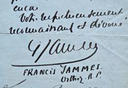 Francis Jammes propose de faire le compte-rendu du congrès eucharistique de Lourdes.. Francis Jammes (1868-1938) Romancier et dramaturge, il est ...