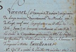 Les 4 députés du Jura de 1815 appuient une demande..