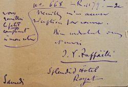 Jean-François Raffaëlli, de séjour à Royat, règle ses dettes.. Jean-François Raffaëlli (1850-1924) Peintre. Élève de Gérôme, Raffaëlli excelle dans ...