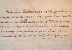 Proposition d'une réforme cadastrale en 1853..