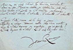 """Manuscrit du poème """"Les Cigales"""" de Jean Rameau.. Jean Rameau (1859-1942) Poète et romancier, membre du Club des hydropathes, de son vrai nom Laurent ..."""