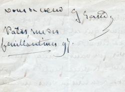 George Sand fait la critique attentive d'un projet de pièce.. George Sand (1804-1876) Romancière française.