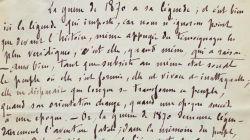 Manuscrit d'une chronique de Charles Merki sur la Guerre de 1870 pour le Mercure de Fr..