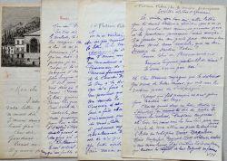 Belle correspondance du comédien Gilles de Saint-Germain.. Gilles de Saint-Germain (1833-1899) Premier Prix de Comédie (1852), il rejoint le théâtre ...