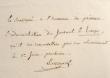 Lakanal résilie son abonnement au Temps.. Joseph Lakanal (1762-1845) Homme politique.