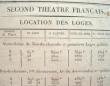Prix des loges du Théâtre Français..