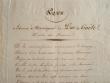 Hommage au duc de Gaëte sur beau papier gaufré.. Martin Gaudin (duc de Gaëte) (1756-1841) Ministre des Finances (1799-1814). Créé duc par Napoléon 1er ...