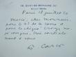 Carte autographe de Françis Carco.. Francis Carco (1886-1958) Ecrivain et poète. L'Homme Traqué reçoit le grand prix du roman de l'Académie Française ...