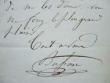 Prosper Bussine. 12 billets autographes signés.. Prosper Alphonse Bussine (1821-1881) Chanteur baryton à l'Opéra-Comique, jusqu'en 1858.