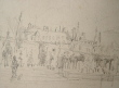 Dessin du château de Rambouillet..