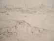 Dessin du port Fécamp au XIXe..