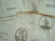 4 documents avec vignettes de la République Cisalpine..
