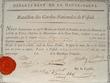 Certificat de la Garde Natinale de Vesoul..