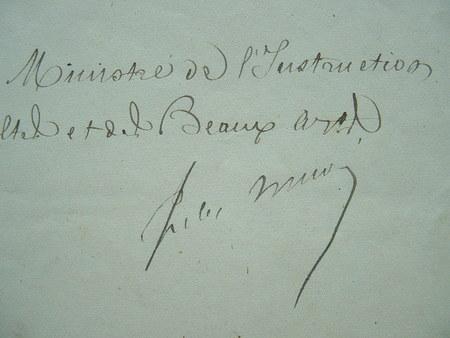 Lettre de Jules Simon durant la Commune.. Jules Simon (1814-1896) Homme politique et philosophe. Membre de l'Académie française (1875).