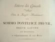 Alpes-Maritimes. Lettre imprimée des consuls de Nice au pape Pie VII..