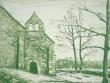 Cantal. Gravure de la chapelle du Roc Vignoret..