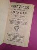 Oeuvres de Monsieur Boindin, de l'Académie des Inscriptions & Belles Lettres. Tome premier contenant ses pièces de théâtre, et ses conjectures sur le ...