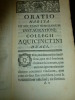 ORATIO HABITA IN SOLEMNI SCHOLARUM INSTAURATIONE COLLEGII AQUICINCTINI DUACI die 3 octobris 1768...et ORATIO HABITA IN PUBLICA INAUGURATIONE COLLEGII ...