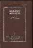 Quranic advices, selections from the holy Quran of guides for a better way of life, arabic text with english translation (by Maulana Fateh Mohammed ...