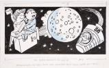 Das Doppel Ereignis der Woche: Amerikaner auf dem Mond und Schweizer nicht mehr hinter dem Mond.. Büchi, Werner (1916–1999):