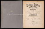 Grandes Etudes de Paganini transcrites pour le Piano et dédiées à Madame Clara Schumann.. Sammelband. – Liszt, Franz:
