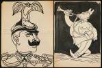 Konvolut von 35 Original Karikaturen.. Lindi (Albert Lindegger) (1904-1991):