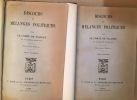 Discours et mélanges politiques (édition de 1882 en 2 tomes). Comte De Falloux