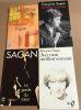 1 lot de 4 livres / la garde du coeur -avec mon meilleur souvenir -les violons parfois-derriere l'épaule. Sagan Françoise