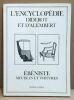L'Encyclopédie. Recueil de planches sur les sciences  les arts libéraux et les arts mécaniques / Ebenistes meubles et voitures. Diderot  d'Alembert