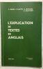 Explicaton de textes en Anglais. Dénier Blattès Nicolson Decotterd