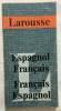 Dictionnaire Francais-Espagnol et Espagnol-Francais (format 7x13 cm). Jeans
