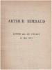 Lettre dite du voyant à paul demeny du 15 mai 1871 avec le fac-similé de l'autographe. Rimbaud Arthur