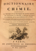 Dictionnaire de Chimie.  MACQUER