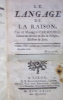 Le langage de la raison. . CARACCIOLI (Marquis Louis Antoine de)