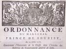 Ordonnance du maréchal prince de Soubise concernant l'ouverture [puis la clôture] de la chasse dans l'étendue des réserves du Gouvernement général de ...