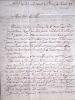 Lettre Autographe Signée adressée à son père, Louis-Michel de Folard, propriétaire à Bourg-Saint-Andéol (Ardèche). . FOLARD (Simon Victor de)