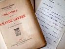Chronique de la Grande Guerre.[1er fvrier 1914 - 4 juillet 1920].. BARRES (Maurice)