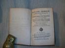 NOUVEL ABREGE CHRONOLOGIQUE DE L'histoire de France. 5e édition.  TOME I. ANONYME  HENAULT Président