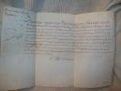 BREVET du titre de Premier Apothicaire. DOCUMENT ORIGINAL 1762.. ORLEANS Louis-Philippe d'
