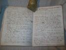DOMAINE DE LA CLOCHE. PIERRELATTE. VAUCLUSE. LIVRES DE COMPTES 1789-1858. MANUSCRITS ORIGINAUX.. PONTBRIAND de CHEVALIER DE BERNARD