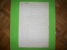 BOMBARDEMENT DE SALE document manuscrit original signé Contre-Amiral Dubourdieu.. DUBOURDIEU Amiral