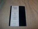 CHRONIQUE D'HISTOIRE MARITIME numéro 41 2000 1er trimestre. TABLE GENERALE 1979-1999..