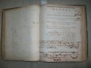 DECRETS DE LA CONVENTION NATIONALE AN II DE LA REPUBLIQUE (1793-1794)..