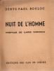 NUIT DE L'HOMME  (E. O.). BOULOC Denys-Paul