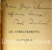 Les Commandements de la patrie. Discours prononcé à l'Institut au nom de l'Académie française. Séance des cinq académies le 25 octobre 1916.. ...